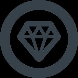 Diamond Inside Circle Free Icon 1 Free Icon Rainbow Over 4500 Royalty Free Icons
